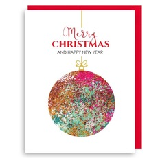 Glitter Ornament Card