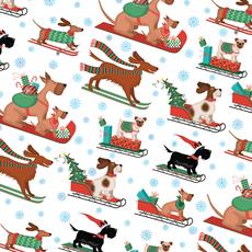 Christmas Dogs Wrap