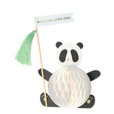 Baby Panda Honeycomb Pop Up Card