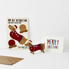 Christmas Dog Pop Out Card