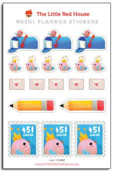 Snail Mail Birdie Mini Stickers
