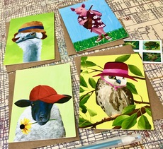Animals In Hats Card Set