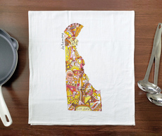 Doodle: Delaware Towel