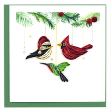 Bird Ornaments Quilled Paper Card
