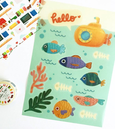 Hello Fishes Washi Stickers