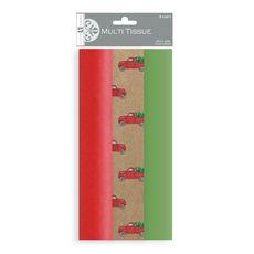 Red Pickup Tissue Paper Trio