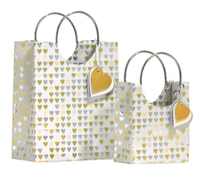 Foil Hearts Small Gift Bag