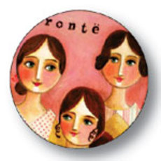 Brontë Sisters Button