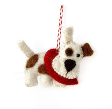 Dog Felted Ornament