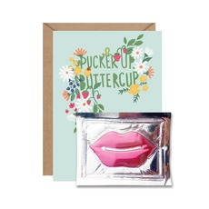Pucker Up Buttercup Lip Mask Card