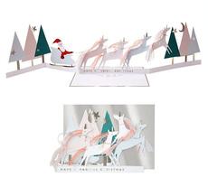 Unicorn Holiday Concertina Card