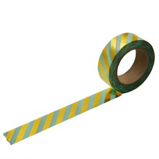 Gold and Mint Stripe Washi Tape