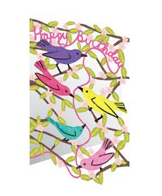 Birthday Birds Laser Cut Card