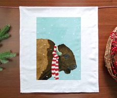 Snowy Bison Towel