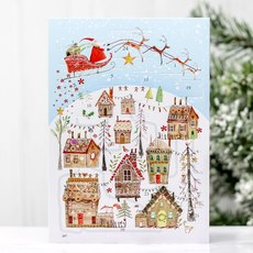 Gingerbread Village Advent Calendar Card