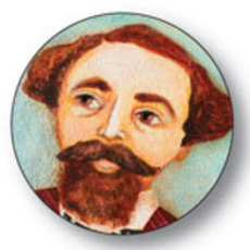 Charles Dickens Button