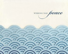 Peaceful Waves Collage Card