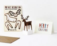 Reindeer Pop Out Card