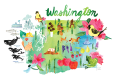 Watercolor USA: Washington