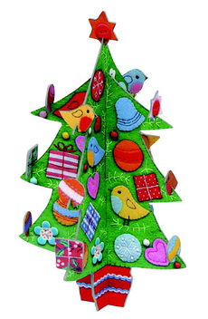 Patchwork Tree Pop Out Decoration