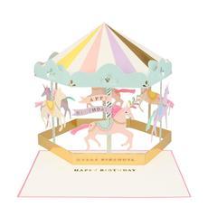 Happy Birthday Unicorn Carousel 3D Card