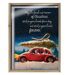 Sappy VW Bug with Tree Boxed Holiday Notes