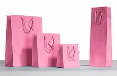 Pink Kraft Solid Bags