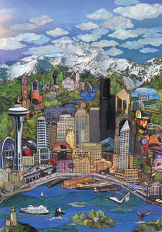Seattle Cityscape Blank
