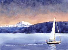 Sailboat & Mountain