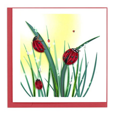 Ladybugs Quilling Card