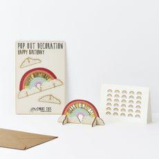 Birthday Rainbow Pop Out Card