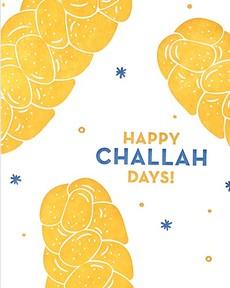 Happy Challah-Days Letterpress Card