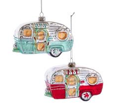 Camper Glass Ornament