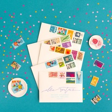 Happy Color Vintage Stamp Collection