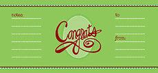 Congrats Script Wine Wish