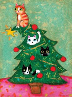 Cats in Christmas Tree Mini