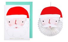 Santa Honeycomb Ornament Card