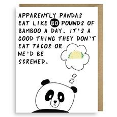 Pandas and Tacos Card