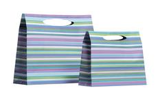 Leslie Lavender Stripe Bags