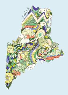 Doodle: Maine