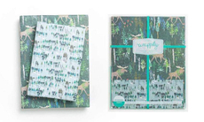 Wintery Wood Reversible Eco-Wrap