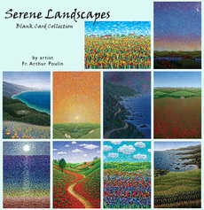 Serene Landscapes Blank Card Collection