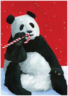 Panda Candy Cane